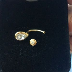Bellybutton ring 14k solid gold